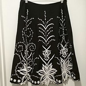 Basil and Maude Anthropologie Skirt Size 8